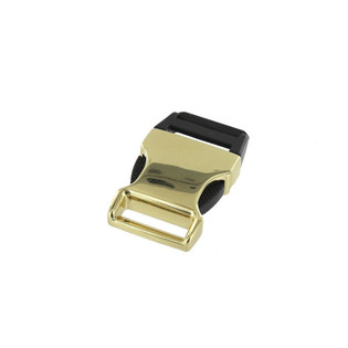 3/4 inch natural brass plated side release buckle