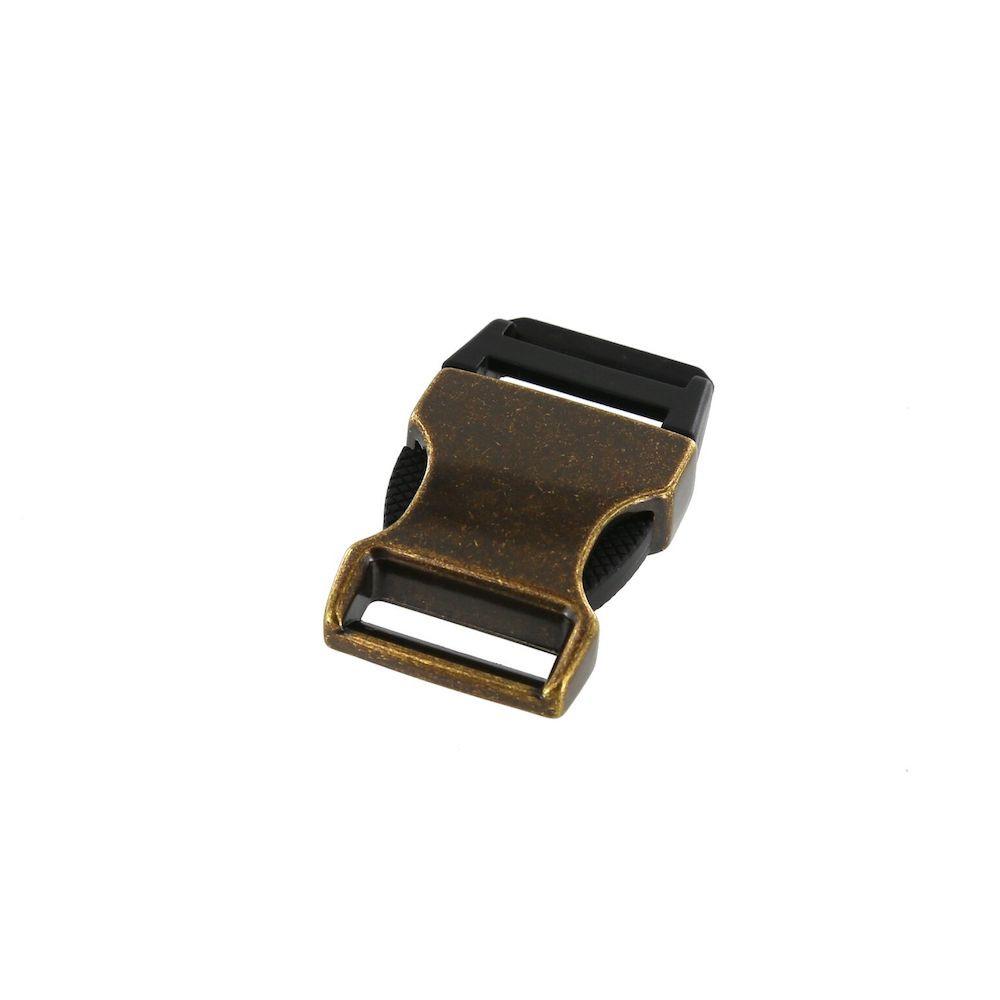 b8606 3 4 antique brass plated side release buckle zinc plastic rh buckleguy com