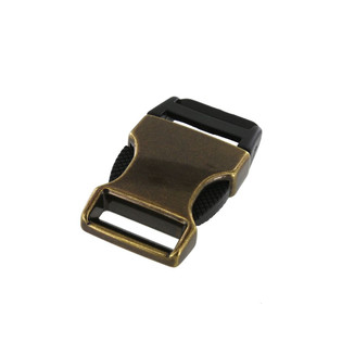 1 inch antique brass plated side release buckle