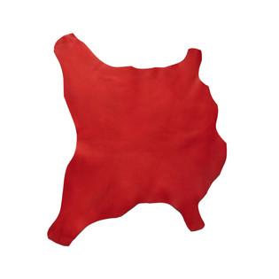 Buffalo Calf Leather Hide Red