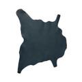 Buffalo Calf Leather Hide Dark Navy
