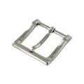 "B8790 1 1/4"" Brushed Nickel, Heel Bar Dress Buckle, Solid Brass-LL"