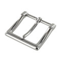 "B8790 1 1/2"" Nickel Plate, Heel Bar Dress Buckle, Solid Brass-LL"