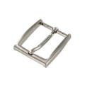 "B8791 1 1/4"" Brushed Nickel, Heel Bar Dress Buckle, Solid Brass-LL"