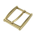 "B8791 1 1/2"" Polished Brass, Heel Bar Dress Buckle, Solid Brass-LL"