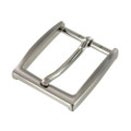 "B8791 1 1/2"" Brushed Nickel, Heel Bar Dress Buckle, Solid Brass-LL"