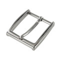 "B8791 1 1/2"" Nickel Plate, Heel Bar Dress Buckle, Solid Brass-LL"