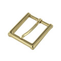 "B8792 1 1/4"" Polished Brass, Heel Bar Dress Buckle, Solid Brass-LL"