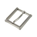 "B8792 1 1/4"" Brushed Nickel, Heel Bar Dress Buckle, Solid Brass-LL"