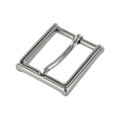 "B8792 1 1/4"" Nickel Plate, Heel Bar Dress Buckle, Solid Brass-LL"