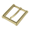 "B8792 1 1/2"" Polished Brass, Heel Bar Dress Buckle, Solid Brass-LL"