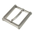 "B8792 1 1/2"" Brushed Nickel, Heel Bar Dress Buckle, Solid Brass-LL"