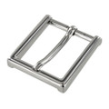 "B8792 1 1/2"" Nickel Plate, Heel Bar Dress Buckle, Solid Brass-LL"