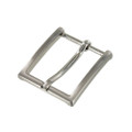 "B8793 1 1/4"" Brushed Nickel, Heel Bar Dress Buckle, Solid Brass-LL"
