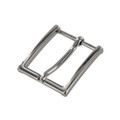"B8793 1 1/4"" Nickel Plate, Heel Bar Dress Buckle, Solid Brass-LL"