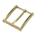 "B8793 1 1/2"" Polished Brass, Heel Bar Dress Buckle, Solid Brass-LL"