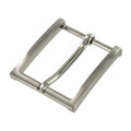 "B8793 1 1/2"" Brushed Nickel, Heel Bar Dress Buckle, Solid Brass-LL"
