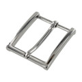 "B8793 1 1/2"" Nickel Plate, Heel Bar Dress Buckle, Solid Brass-LL"