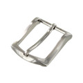 "B8989 1 1/4"" Brushed Nickel, Heel Bar Dress Buckle, Solid Brass-LL"