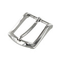 "B8989 1 1/4"" Nickel Plate, Heel Bar Dress Buckle, Solid Brass-LL"