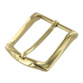 "B8989 1 1/2"" Polished Brass, Heel Bar Dress Buckle, Solid Brass-LL"