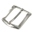 "B8989 1 1/2"" Brushed Nickel, Heel Bar Dress Buckle, Solid Brass-LL"