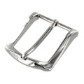 "B8989 1 1/2"" Nickel Plate, Heel Bar Dress Buckle, Solid Brass-LL"