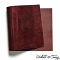 Wickett & Craig Traditional Harness Leather Panels, Burgundy, Multiple Sizes & Weights