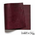 Leather Panel Wickett & Craig Milled Traditional Harness - Burgundy