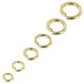 B93 Natural Brass, Jump Ring, Solid Brass-LL