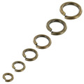 B93 Antique Brass, Jump Ring, Solid Brass-LL