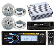 Sony Marine iPod Tune Tray MP3 Receiver Radio 2 Pairs of Speakers 400Watt Amp
