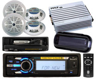 New Sony Marine Boat DSXMS60 iPod Tune Tray Radio 4 Speakers +400w Amp + Cover
