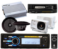Sony DSXMS60 Marine Waterproof MP3 Radio 4 Speakers 4 Channel Amp With Remote