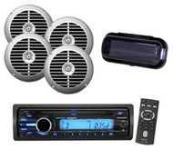 Sony Marine Boat Detachable Face CD MP3 AUX Stereo System + 4 Speakers + Cover