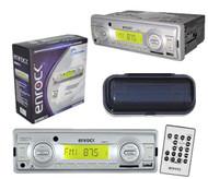 New Enrock EKMRS12 In Dash Marine MP3 USB SD FM Media Receiverr W/Remote + Cover