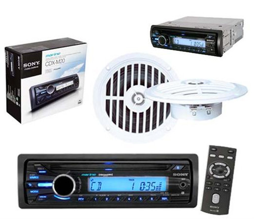 new sony outdoor use marine radio aux input mp3 wma cd. Black Bedroom Furniture Sets. Home Design Ideas