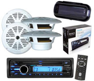 """CDXM20 New Sony Waterproof AUX Input CD MP3 Player w/Cover & 6.5"""" Round Speakers"""