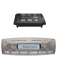 JBL MR18.5 Marine Boat MP3 USB iPod iPhone Radio Receiver PLBT27 Wired Remote