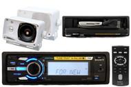 SonyDSXMS60 Marine Boat MP3 iPod USB Radio Receiver + 2 Speaker Wireless Remote