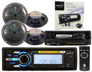 New Sony DSX-MS60 Marine Boat MP3 iPod Tray Radio Stereo + 4 Speakers Package