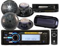Sony DSXMS60 Marine MP3 AUX USB Waterproof Radio 4 Speakers Splashproof Cover