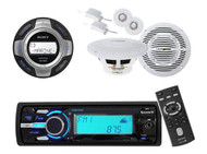 New DSXMS60 Boat MP3 Radio Receiver iPod Tune Tray 2 Speakers+ Wireless Remote - MPS6102