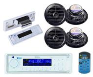 "Marine Boat yacht AM/FM Radio USB/MP3 AUX SD Card Player 4 X 6.5"" speakers Pkg - MPB5623"