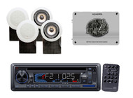 New Pyle PLCD33MR Marine In Dash USB AUX Media Player & 1600 Watt Amp 4 Speakers