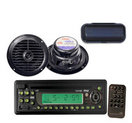 New Boat CD/CDR/CDRW/MP3/WMA Compatible Player w/Cover,6.5'' Waterproof Speakers