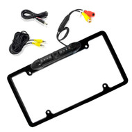 New Pyle PLCM16BP License Plate Frame Rear View Backup Camera (Parking Assist, Night Vision Waterproof Cam, Distance Scale Lines)