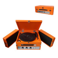 Pyle PLTT82BTOR Vintage Retro Classic Style Bluetooth Turntable Record Player with Vinyl-To-MP3 Recording
