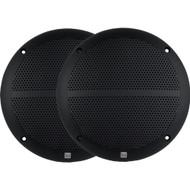 New Pair Dual DMP660B 6.5-Inch Dual Cone Marine Boat Yacht Stereo Speakers 2 X Speakers Black