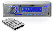 EKMRS13 Enrock Aqua Series 4 x 50 Watt In-Dash Marine AM/FM/Radio/SD/USB Digital Media Receiver with AUX Input for iPod/MP3 Players (Silver)